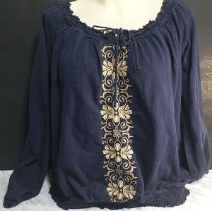 St John's Bay Peasant Long Sleeve Blouse